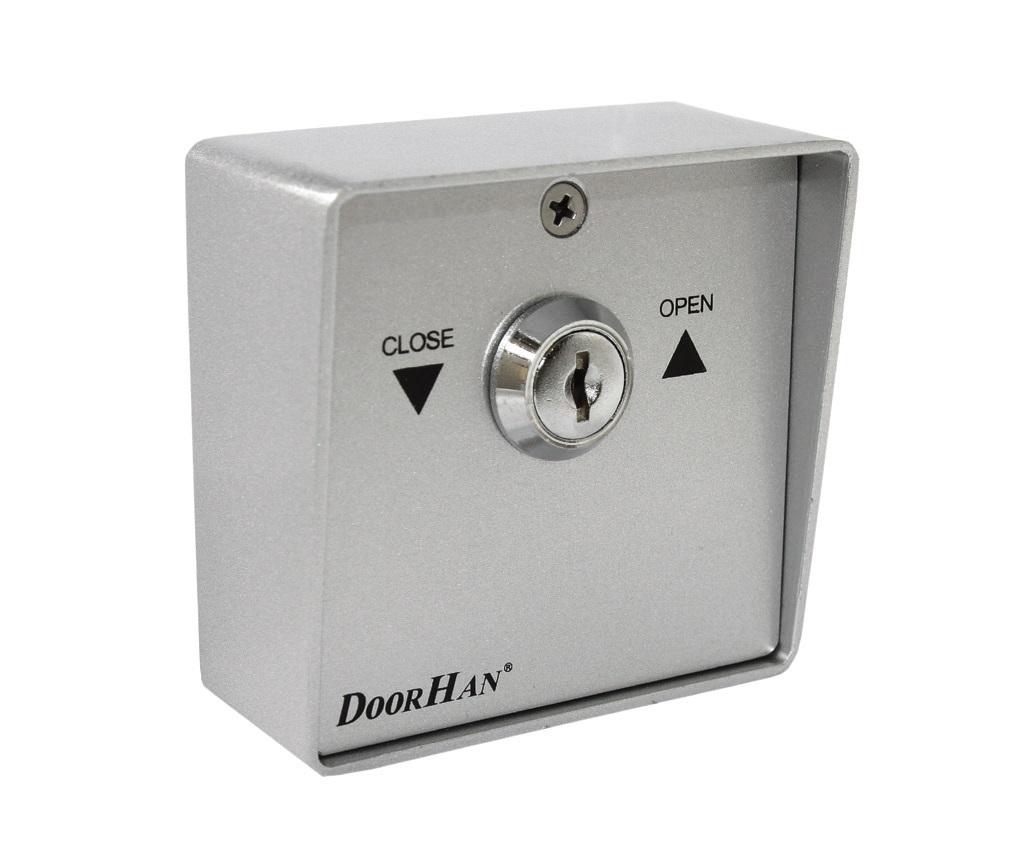 Выключатель металлический SWM кнопка-ключ для рольставен (DOORHAN)